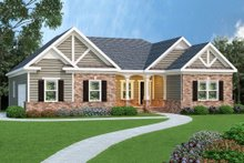 Dream House Plan - Craftsman Exterior - Front Elevation Plan #419-114