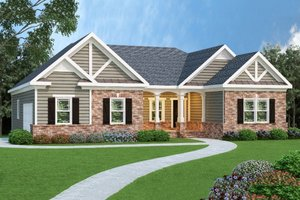 House Plan Design - Craftsman Exterior - Front Elevation Plan #419-114