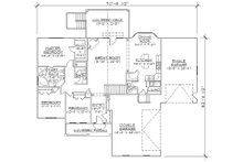 Traditional Floor Plan - Main Floor Plan Plan #5-245