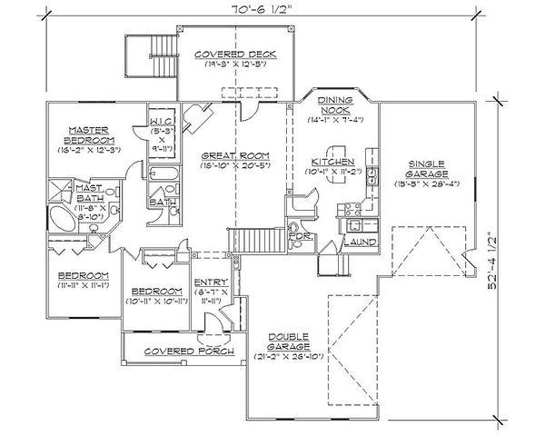 House Plan Design - Traditional Floor Plan - Main Floor Plan #5-245