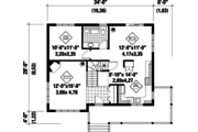 Country Style House Plan - 3 Beds 1 Baths 1820 Sq/Ft Plan #25-4412 Floor Plan - Main Floor Plan