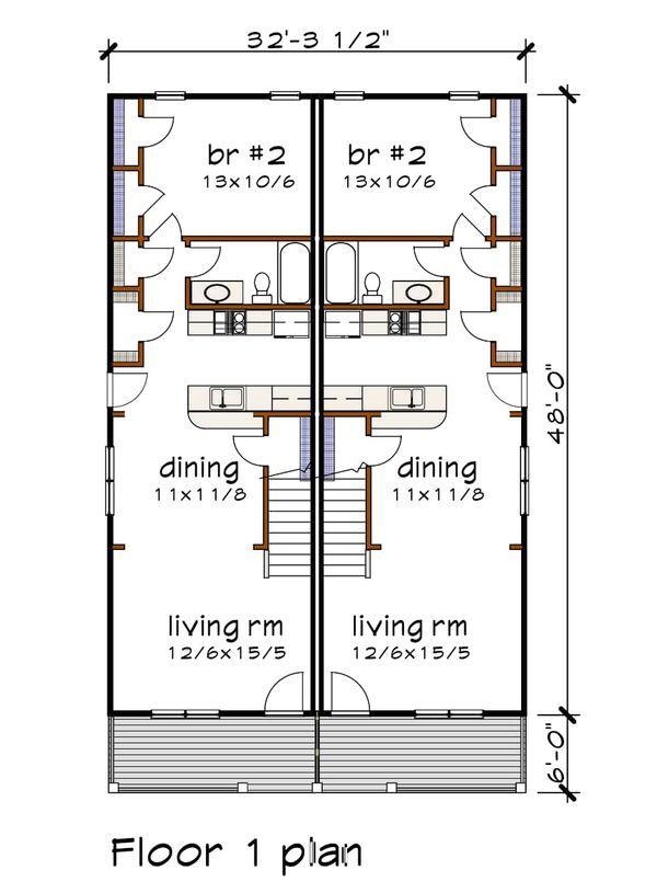 Cottage Floor Plan - Main Floor Plan #79-241