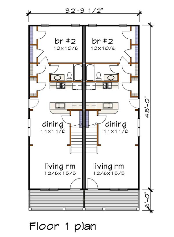House Plan Design - Cottage Floor Plan - Main Floor Plan #79-241