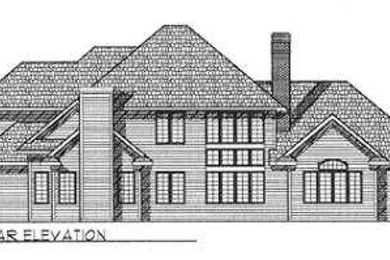 Southern Exterior - Rear Elevation Plan #70-484 - Houseplans.com