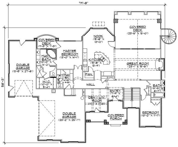 Craftsman Floor Plan - Main Floor Plan Plan #5-259