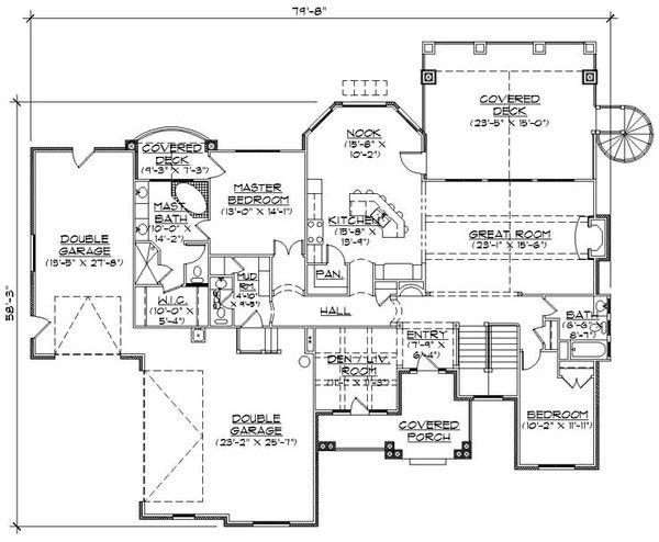 House Plan Design - Craftsman Floor Plan - Main Floor Plan #5-259