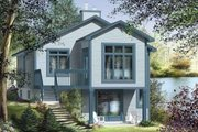 Cottage Style House Plan - 1 Beds 1 Baths 1398 Sq/Ft Plan #25-4191 Exterior - Front Elevation