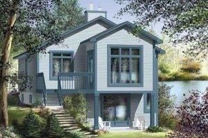 Cottage Exterior - Front Elevation Plan #25-4191