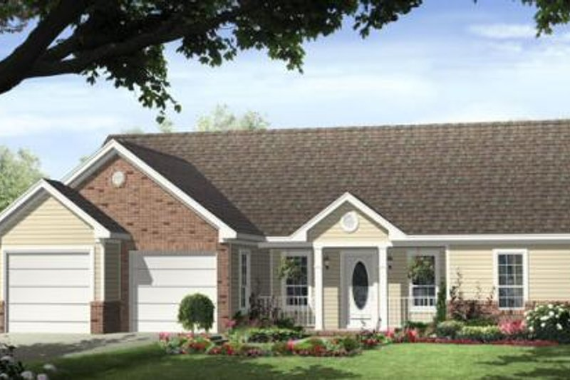 Ranch Exterior - Front Elevation Plan #21-165