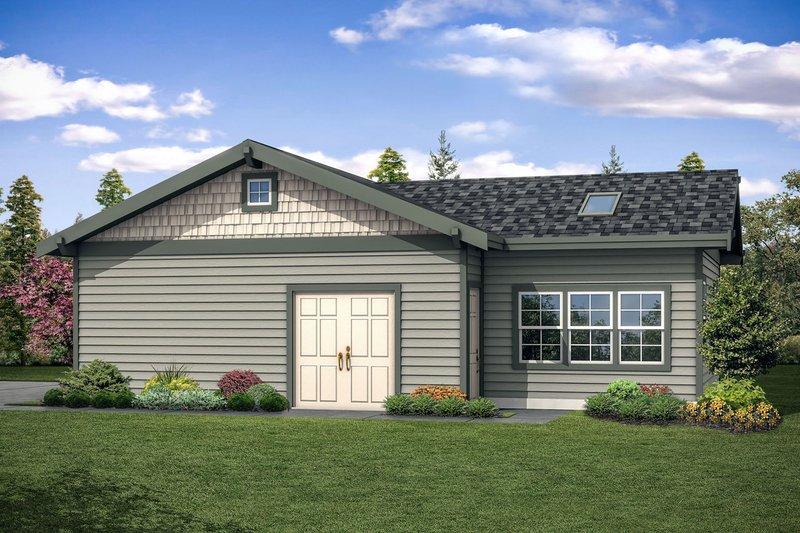 House Plan Design - Craftsman Exterior - Other Elevation Plan #124-1093
