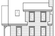 Cottage Style House Plan - 2 Beds 2 Baths 1200 Sq/Ft Plan #23-661 Exterior - Rear Elevation