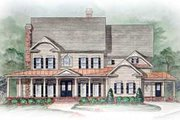Farmhouse Style House Plan - 5 Beds 5.5 Baths 5209 Sq/Ft Plan #54-103 Exterior - Other Elevation