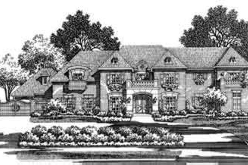 European Style House Plan - 5 Beds 5 Baths 6056 Sq/Ft Plan #141-161