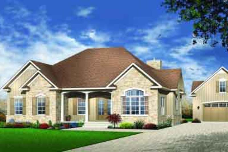 European Exterior - Front Elevation Plan #23-529 - Houseplans.com