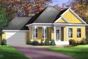 Traditional Exterior - Front Elevation Plan #25-4133