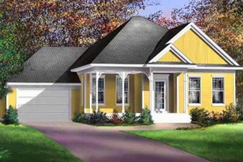 Traditional Style House Plan - 3 Beds 2 Baths 1440 Sq/Ft Plan #25-4133 Exterior - Front Elevation