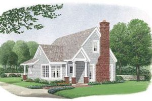 Dream House Plan - Bungalow Exterior - Front Elevation Plan #410-171