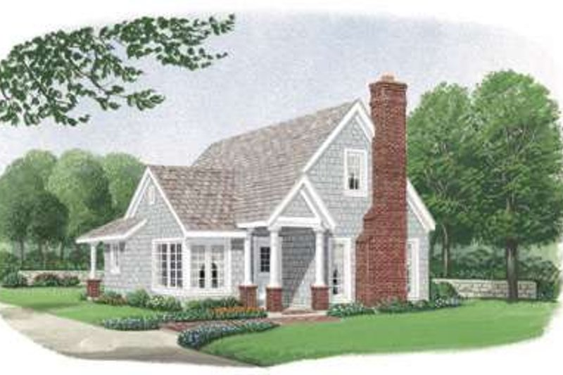 Bungalow Style House Plan - 2 Beds 2 Baths 1302 Sq/Ft Plan #410-171 Exterior - Front Elevation