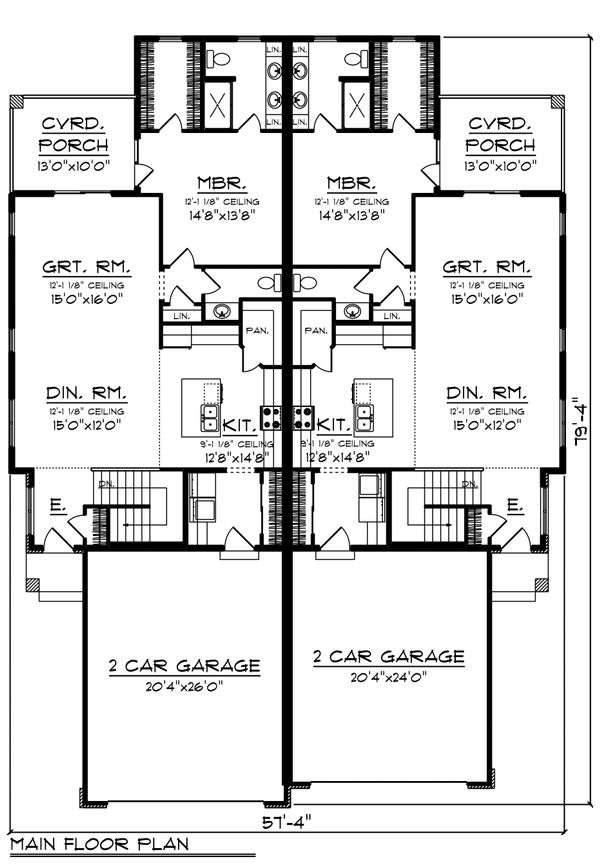 Ranch Floor Plan - Main Floor Plan Plan #70-1475