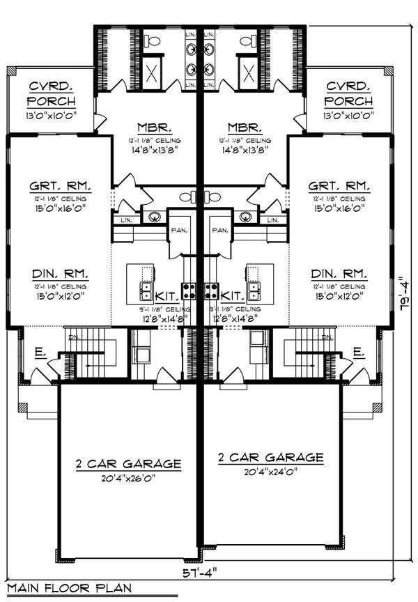 Ranch Floor Plan - Main Floor Plan Plan #70-1475