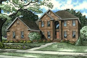 European Exterior - Front Elevation Plan #17-2271