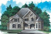 European Style House Plan - 5 Beds 3.5 Baths 3228 Sq/Ft Plan #119-141 Exterior - Front Elevation