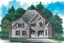 House Plan Design - European Exterior - Front Elevation Plan #119-141