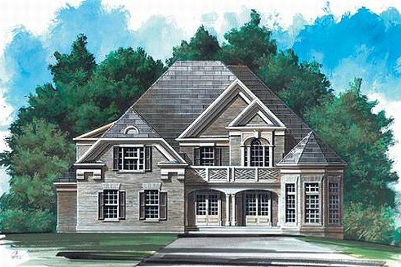 Dream House Plan - European Exterior - Front Elevation Plan #119-141