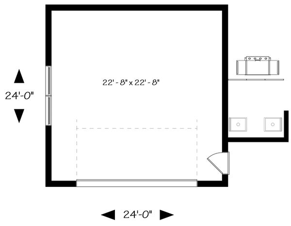 Modern Floor Plan - Main Floor Plan Plan #23-2675