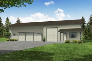 Architectural House Design - Traditional Exterior - Front Elevation Plan #124-659