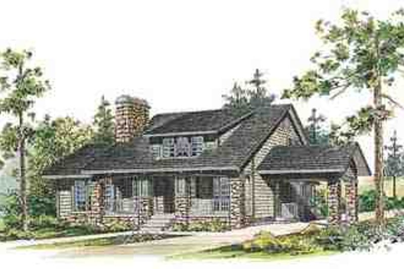 House Blueprint - Country Exterior - Front Elevation Plan #72-230
