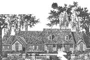 Traditional Style House Plan - 4 Beds 3.5 Baths 3270 Sq/Ft Plan #310-626 Exterior - Front Elevation