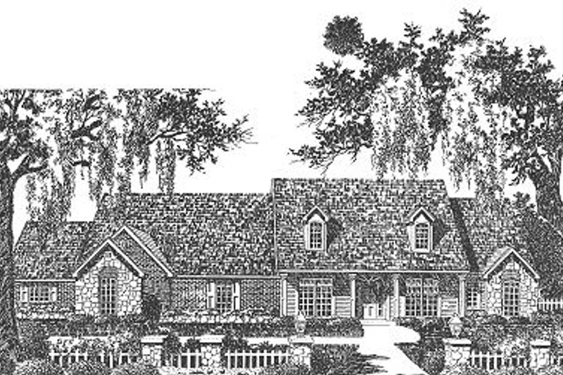 Dream House Plan - Traditional Exterior - Front Elevation Plan #310-626