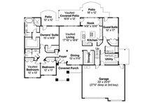 European Floor Plan - Main Floor Plan Plan #124-741