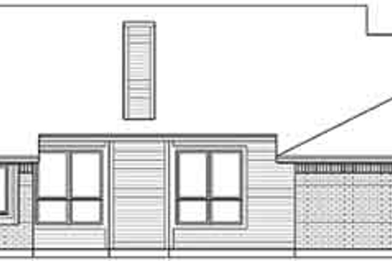 Traditional Exterior - Rear Elevation Plan #84-225 - Houseplans.com