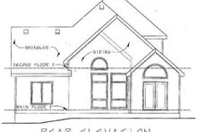 Farmhouse Exterior - Rear Elevation Plan #20-1407