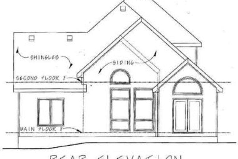 Farmhouse Exterior - Rear Elevation Plan #20-1407 - Houseplans.com