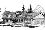 Traditional Style House Plan - 4 Beds 2.5 Baths 2487 Sq/Ft Plan #60-158 Exterior - Front Elevation