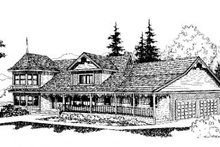 Home Plan Design - Traditional Exterior - Front Elevation Plan #60-158