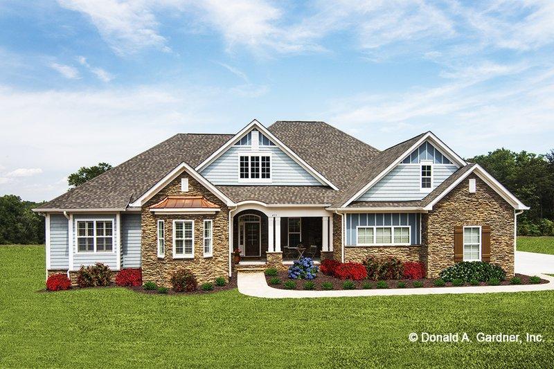 Dream House Plan - European Exterior - Front Elevation Plan #929-3