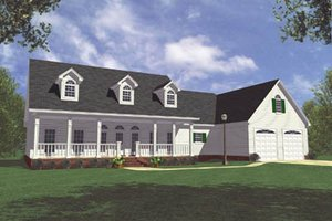 Country Exterior - Front Elevation Plan #21-111