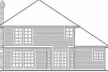 Dream House Plan - Traditional Exterior - Rear Elevation Plan #48-209