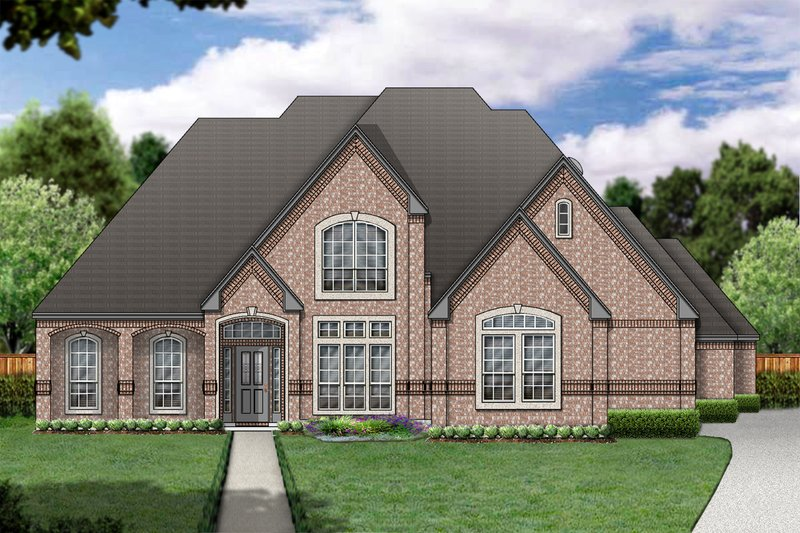 European Exterior - Front Elevation Plan #84-413