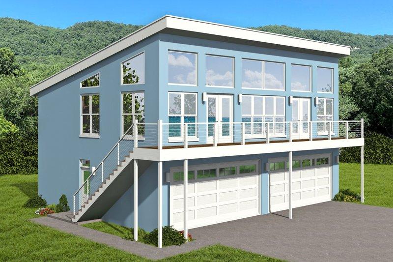 House Plan Design - Contemporary Exterior - Front Elevation Plan #932-364