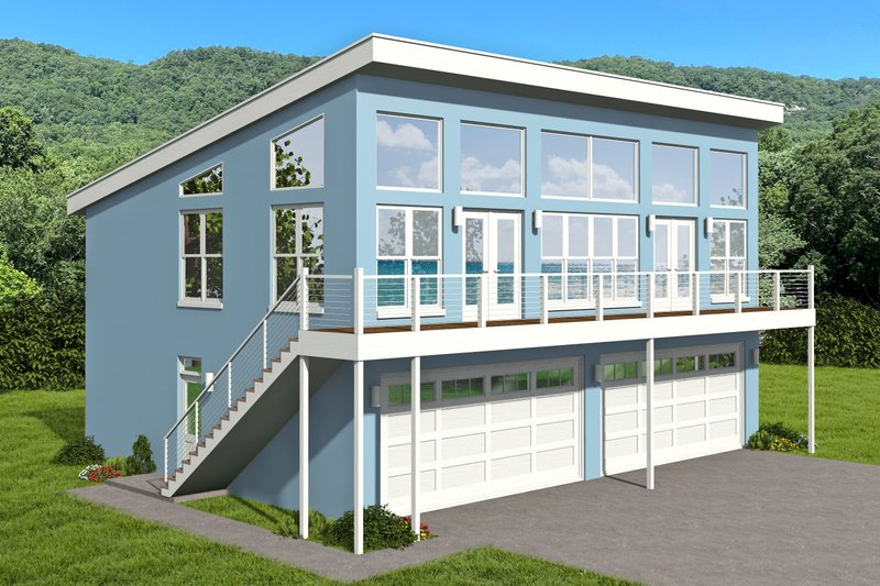 Home Plan - Contemporary Exterior - Front Elevation Plan #932-364
