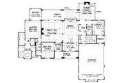 Craftsman Style House Plan - 4 Beds 4 Baths 3822 Sq/Ft Plan #929-1072 Floor Plan - Main Floor