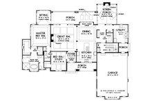 Craftsman Floor Plan - Main Floor Plan Plan #929-1072