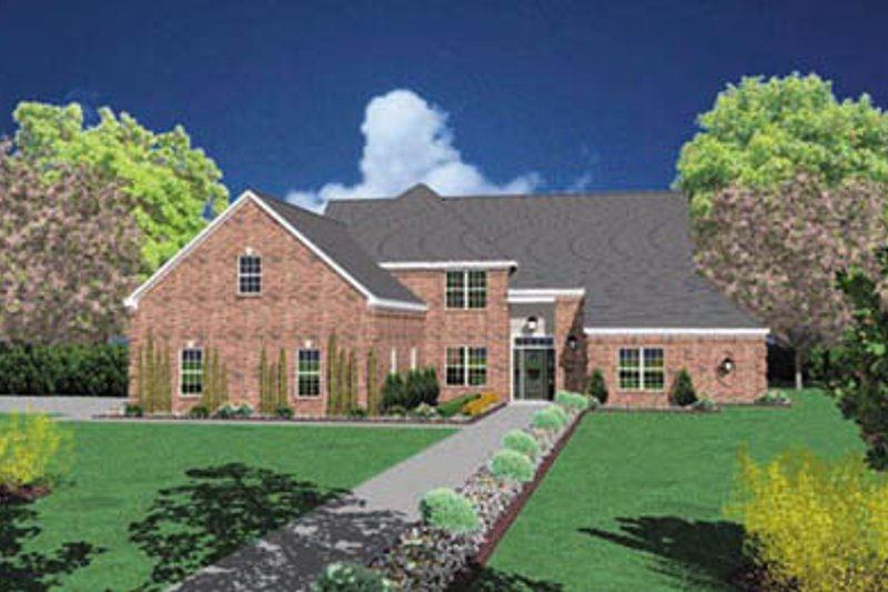 Traditional Style House Plan - 5 Beds 4 Baths 2901 Sq/Ft Plan #36-226 Exterior - Front Elevation