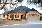 European Style House Plan - 3 Beds 3 Baths 2450 Sq/Ft Plan #534-1 Exterior - Front Elevation