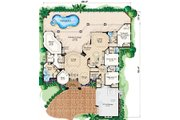 European Style House Plan - 4 Beds 4 Baths 3650 Sq/Ft Plan #27-369 Floor Plan - Main Floor Plan